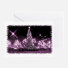 Toronto City Hall - Xmas Pink Greeting Card