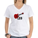 Guitar - Leo Women's V-Neck T-Shirt