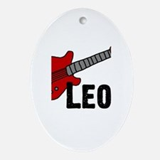 Guitar - Leo Oval Ornament