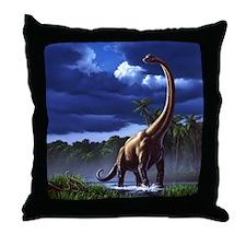 Brachiosaur 1 Throw Pillow