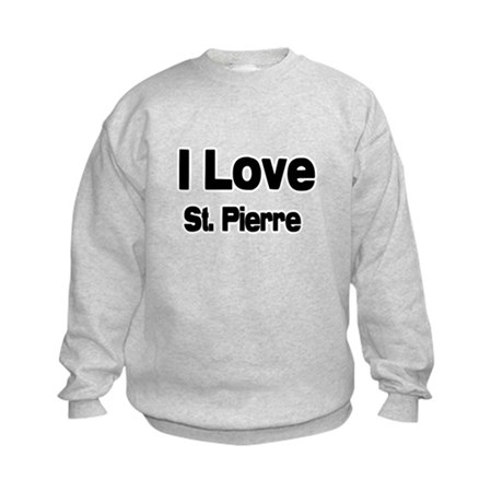i love St. Pierre Kids Sweatshirt