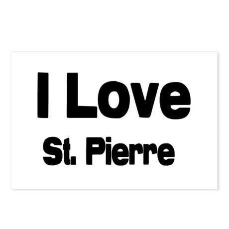 i love St. Pierre Postcards (Package of 8)