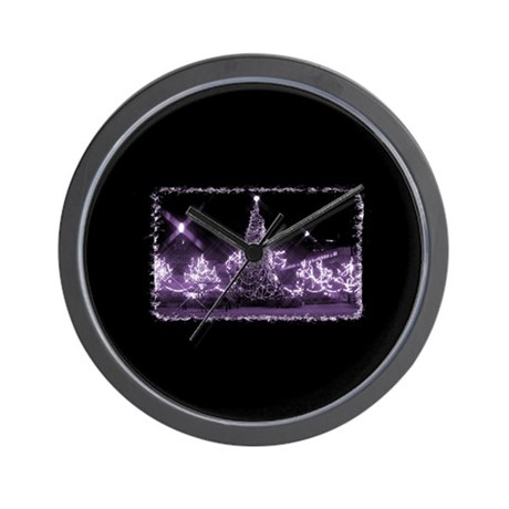 Toronto City Hall - Xmas Purp Wall Clock