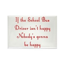 School Bus Driver Rectangle Magnet (10 pack)