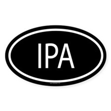 IPA Oval Bumper Stickers