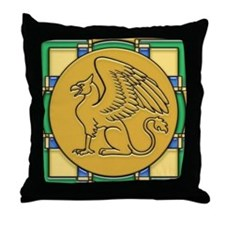 Gryphon Guardian -Throw Pillow