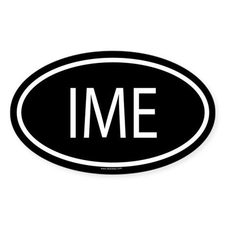 IME Oval Sticker