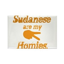 Sudanese are homies Rectangle Magnet