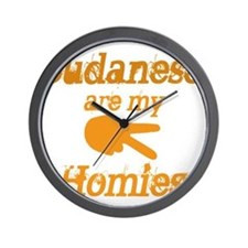 Sudanese are homies Wall Clock