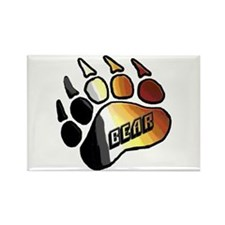 BEAR PRIDE PAW/BEAR Rectangle Magnet