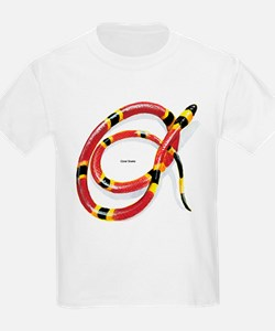 Coral Snake (Front) Kids T-Shirt