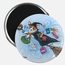 Corgi Kitchen Witch Magnet