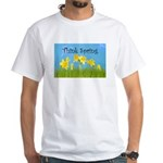Think Spring White T-Shirt