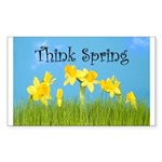 Think Spring Rectangle Sticker