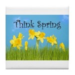Think Spring Tile Coaster