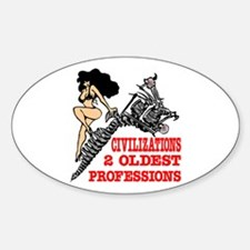 2 Oldest Professions Oval Decal