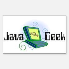 Java Geek Rectangle Decal
