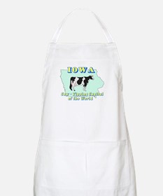 Iowa Cow Tipping BBQ Apron
