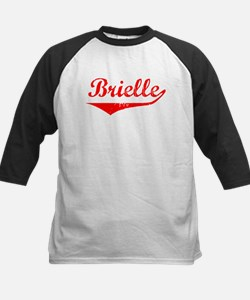 Brielle Vintage (Red) Kids Baseball Jersey