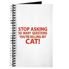 Curiosity Kiled The Cat Gifts Journal