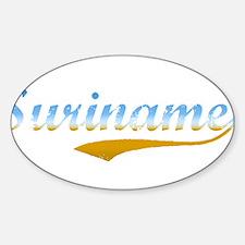 Suriname beach Oval Decal