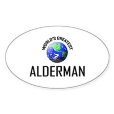World's Greatest ALDERMAN Oval Decal