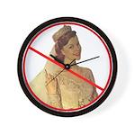 anti-bridezilla wall clock