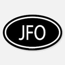 JFO Oval Bumper Stickers