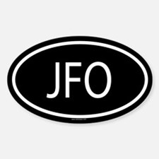 JFO Oval Decal