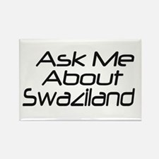 ask me about swaziland Rectangle Magnet