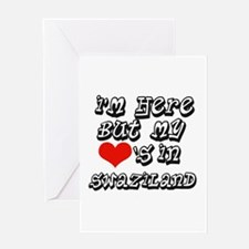 my heart in swaziland Greeting Card