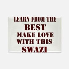 learn more from swazi Rectangle Magnet