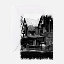 Old Haunted House Greeting Card