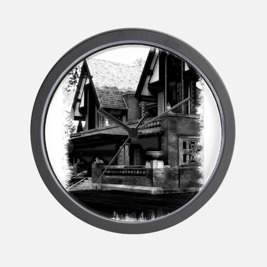 Old Haunted House Wall Clock