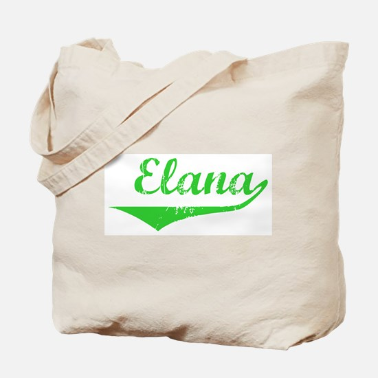 Elana Vintage (Green) Tote Bag