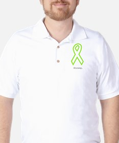 Lime Outline. Strong Golf Shirt