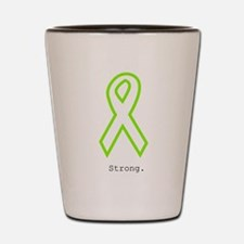 Lime Outline. Strong Shot Glass