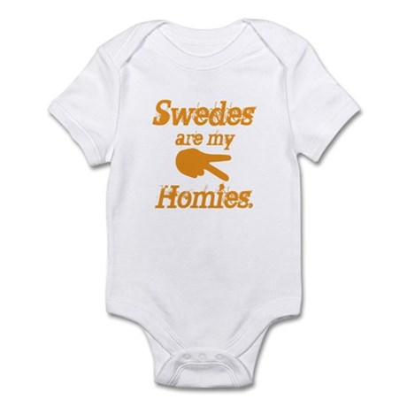 Swedes are my homies Infant Bodysuit