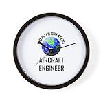 World's Greatest AIRCRAFT ENGINEER Wall Clock