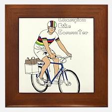 World Champion Bike Commuter (In Rainb Framed Tile