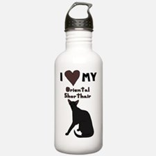 Cute Oriental shorthair Sports Water Bottle