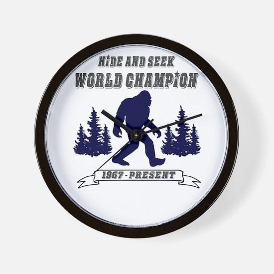 Hide and Seek World Champion Wall Clock