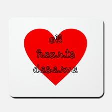 All Hearts Deserve Cursive Red Mousepad