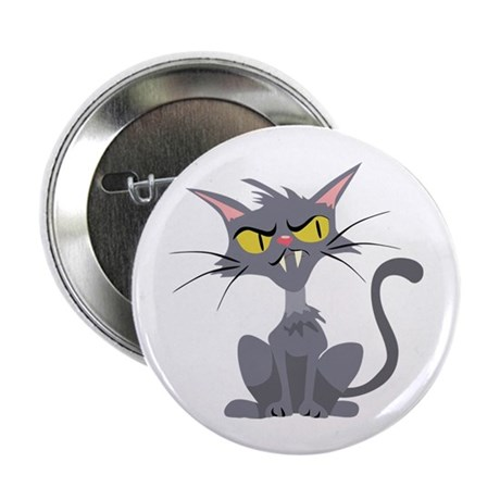 "Grey Cat 2.25"" Button (10 pack)"