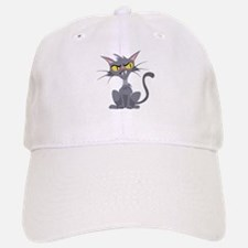 Grey Cat Baseball Baseball Cap