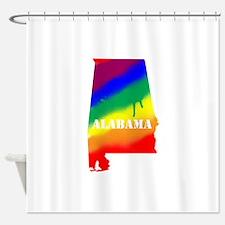 Alabama Gay Pride Shower Curtain