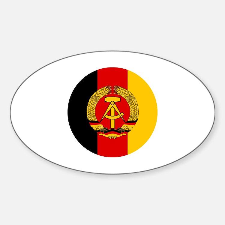 Cute East germany Sticker (Oval)