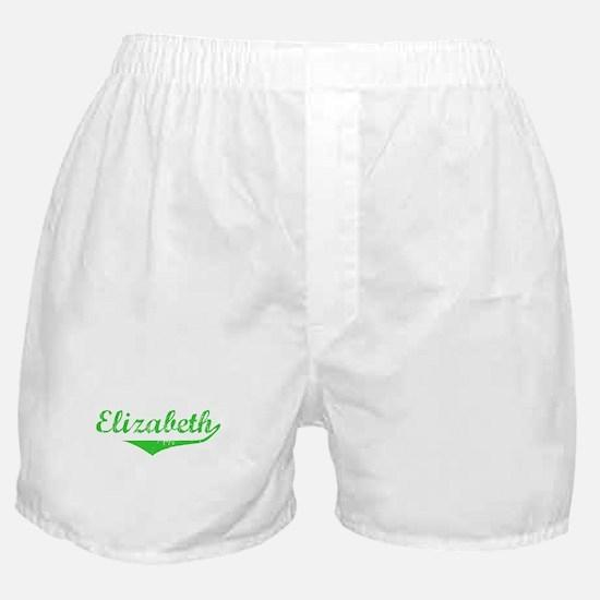 Elizabeth Vintage (Green) Boxer Shorts