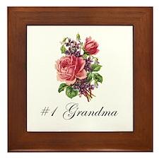 #1 Grandma Framed Tile