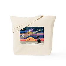 Xmas Star & Black Lab Tote Bag